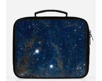 Galaxy Lunch Box, Space Lunch Box, Navy Blue Lunch Box, Nerdy Lunch Box, Stars Lunch Box, Navy Lunch Box, Cute Lunch Box,