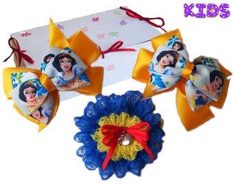 Snow White hair bow / Snow White bracelet / Snow White outfit / Snow White corsage / Snow White hair clip  Snow White gift  Disney princess