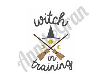 Witch In Training - Machine Embroidery Design