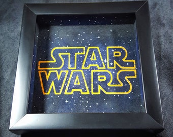 Star Wars Custom Built and Hand Painted Dice Tray, Gaming Accessory, Boardgames, Tabletop, Wall Art.