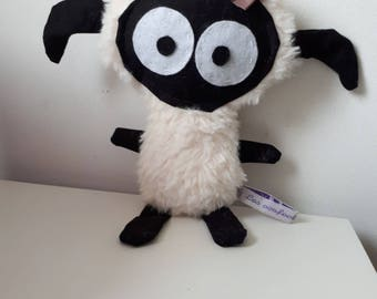 Doudou sheep little beige and black