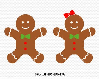 Gingerbread Cookies,Gingerman Svg,Gingerbread boy girl clip art,Christmas SVG Cutting File Svg,CriCut Files svg jpg png dxf Silhouette cameo