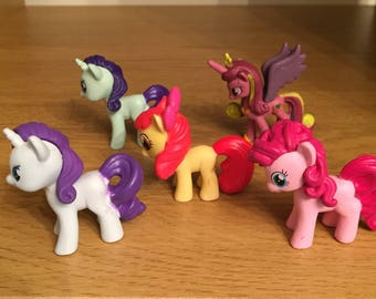 Set of 5 my little pony figures/cake toppers