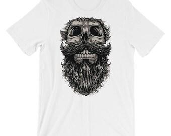 Skull Beard Short-Sleeve Unisex T-Shirt