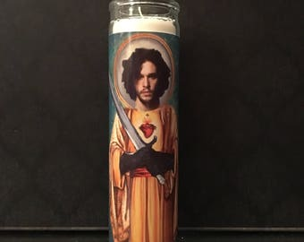 Game OF Thrones Jon Snow Prayer Candle
