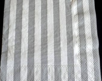 Gray and white stripes paper towel