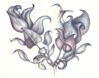 Lilac Leaf Bouquet Notecard