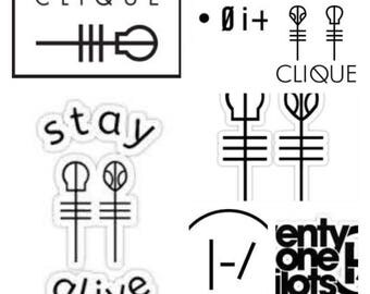 Twenty one pilots etsy for Twenty one pilots coloring pages