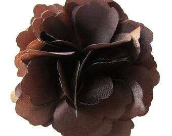 2 Brown Rose Flower Baby Girl Hair Clips Brooches 1 Pair