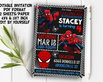 Spiderman invitation spiderman birthday invitation spiderman invitation spiderman spiderman party spiderman printable spiderman invite spiderman birthday solutioingenieria Gallery