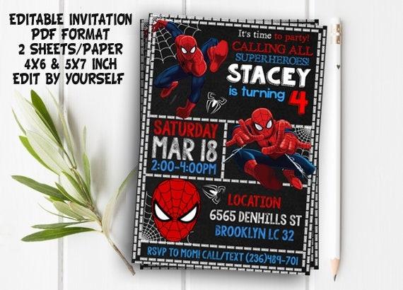 Spiderman invitation spiderman spiderman party spiderman te gusta este artculo solutioingenieria Images