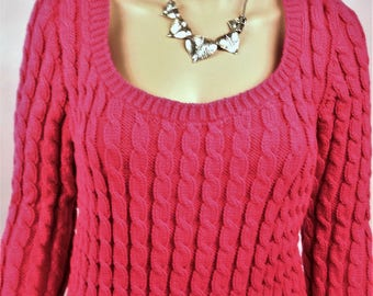 Women sweater, Wool Sweater, pullover, neckline, sweater, hand made sweater pullover winter sweater sexy, dark pink sweater Wool Sweater,