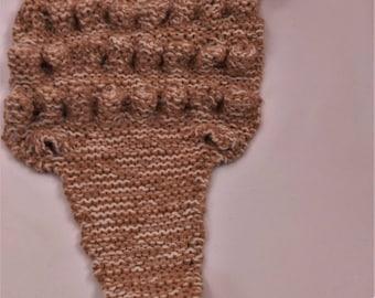 wool scarf, kids scarf, Brown scarf, scarf winter scarf knitted scarf handmade scarf crocodile