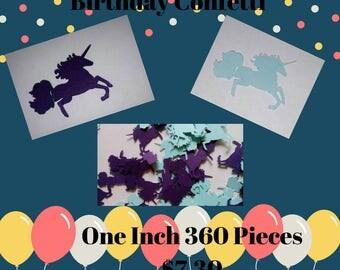 Die Cut  Unicorn Confetti,Birthday Party Unicorn Confetti, Party Confetti