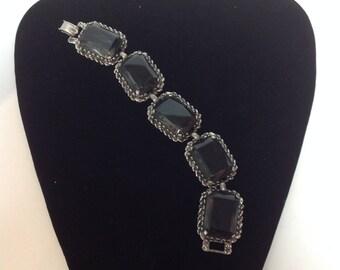 Vintage Gray Gem Bracelet