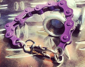 bicycle chain bracelet purple and other colors
