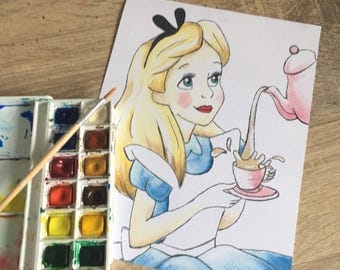 DISNEY inspired ALICE in WONDERLAND painting print