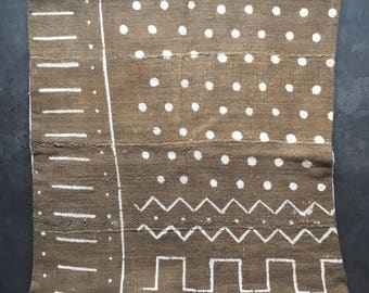 African Brown Mudcloth Pillow, Flash Sale