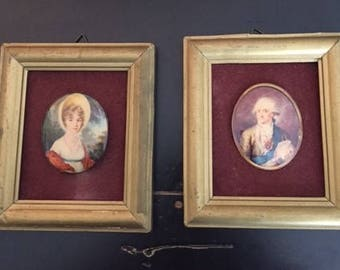 Vintage Set of 2 Pictures from Muzeum Narodowe, Krakow, Poland