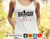Birthday Queen shirt design htv design,  svg file, png, pdf, svg, ai eps for silhouettte, SNC or cricut HTV