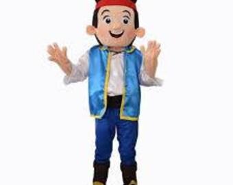 Jake Neverland Pirate Style Mascot Costume