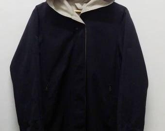 Vintage MAX MARA Rainwear Reversible jacket / hoodie