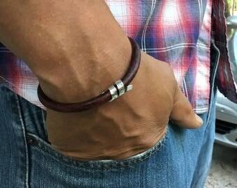 Personalized Men's Bracelet, Spinning Coordinates Bracelet,  Anniversary,  Gift for Husband, Gift for Boyfriend, Gift for Fiance