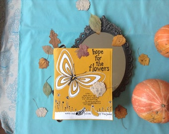 Hope for the Flowers Leather Book Bag