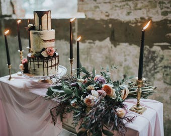 Wedding | silk runner | table runner | silk chiffon table runner | table runner | silk ribbon | wedding decor | mauve wedding | runner