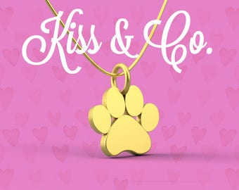 Necklace -Puppy/Dog Paw Print (~15x14mm)
