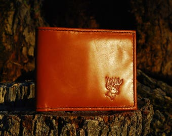 HANDMADE LEATHER WALLETS. (With your initials inner side)