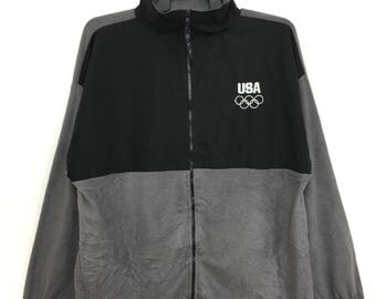 Sale!! Vintage Olympic USA Sweatshirt Fleece XL Size Made In Usa