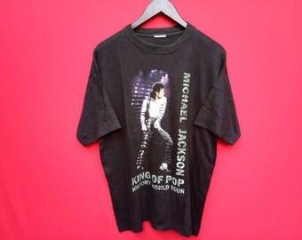 vintage Micheal Jackson king of pop mens t shirt