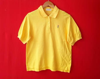 vintage yves saint laurent polo mens shirt