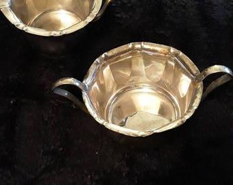 Vintage Yeoman Plate EPNS Milk Jug And Sugar Pot