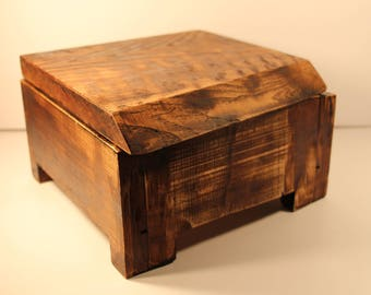 Altar Box // Wiccan Box // Witch Box // Natural Wood Box // Vintage Jewelry Chest // Vintage Jewelry Box // Gothic Jewelry Box