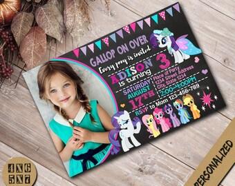 My Little Pony Invitation,My Little Pony Birthday Invitation,My Little Pony  Party,My Little Pony  Invite,My Little Pony  Birthday