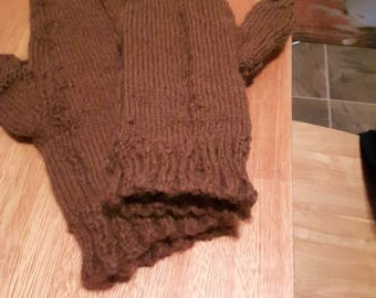 Hand Knit Alpaca Wool Mitts