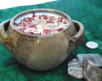 Candle - Pottery Crocks - Dragon's Blood scent