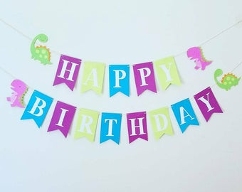 Dinomite dinosaur, girl dinosaur party, happy birthday banner.Dinosaur happy birthday banner, dino mite happy birthday banner,dinosaur party