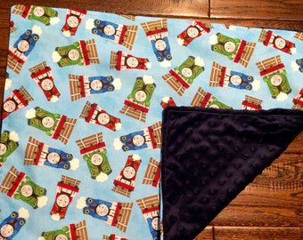 Thomas The Train Minky Stroller Blanket