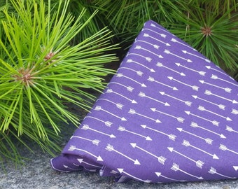Beeswax wrap - wax wrap - cotton - purple arrow pattern - great alternative food wrap and alternative food storage - eco friendly