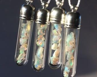 FIRE OPAL Pendulum Necklace