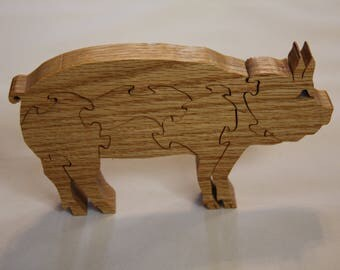 Wooden puzzle: Pig