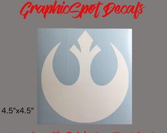 Rebel Alliance Emblem Decal | Vinyl Decal |