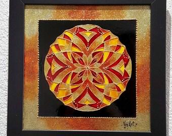 Mandala with glitter colors.