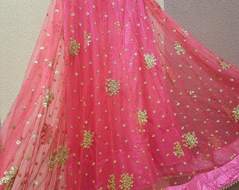 Heavy sequins embroidered Lehenga Skirt, wedding, bridal, party wear, Indian Pakistani Wear