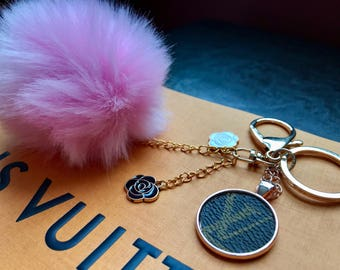 Louis Vuitton Pom Pom Bag Charms / Keychains made of 100% Authentic LV Canvas, Made to Order (Custom options).