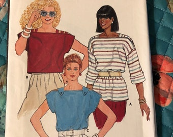 Butterick pattern 6548 misses' top - size 14 - uncut