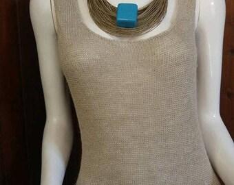 Bracelet, necklace, linen and ceramics jewelry, organic jewelry, flax eco friendly, organic jewelry, organic bracelet